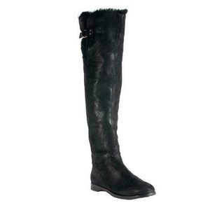 JIMMY CHOO Yam Over The Knee Shine Suede Boots
